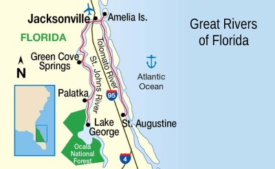 Florida Rivers Map.Florida Rivers Cruises From Jacksonville