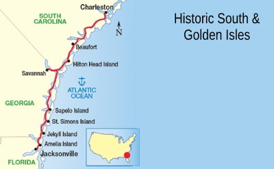 Historic South cruise map